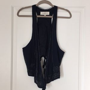 A&F Beaded Vest